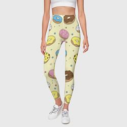 Леггинсы женские Сладкие пончики цвета 3D — фото 2