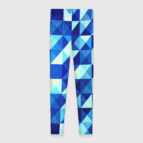 Женские леггинсы Синяя геометрия / 3D – фото 2