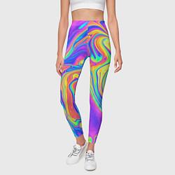 Леггинсы женские Цветные разводы цвета 3D — фото 2