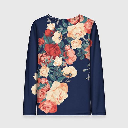 Женский лонгслив Fashion flowers / 3D – фото 2