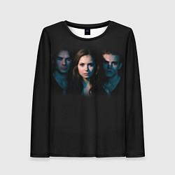 Лонгслив женский Vampire Trio цвета 3D-принт — фото 1