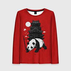Лонгслив женский Panda Warrior цвета 3D — фото 1