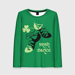 Лонгслив женский Ireland, Irish dance цвета 3D-принт — фото 1