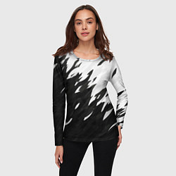 Лонгслив женский Black & white цвета 3D-принт — фото 2