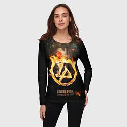 Лонгслив женский Linkin Park: Burning the skies цвета 3D — фото 2
