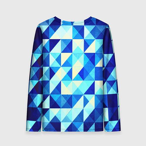 Женский лонгслив Синяя геометрия / 3D – фото 2