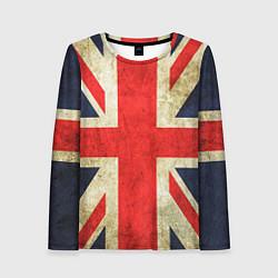 Лонгслив женский Великобритания цвета 3D — фото 1