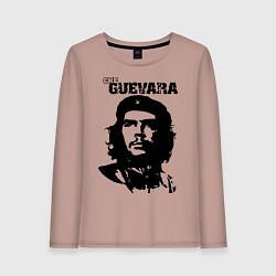 Лонгслив хлопковый женский Che Guevara цвета пыльно-розовый — фото 1