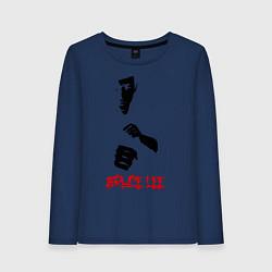 Лонгслив хлопковый женский Bruce Lee цвета тёмно-синий — фото 1