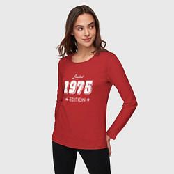 Лонгслив хлопковый женский Limited Edition 1975 цвета красный — фото 2