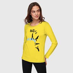 Лонгслив хлопковый женский The Beatles: break down цвета желтый — фото 2