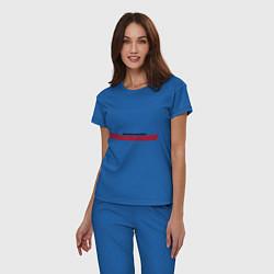 Пижама хлопковая женская NFS Undeground цвета синий — фото 2