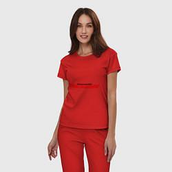 Пижама хлопковая женская NFS Undeground цвета красный — фото 2