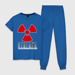 Пижама хлопковая женская STALKER: Shadow of Chernobyl цвета синий — фото 1