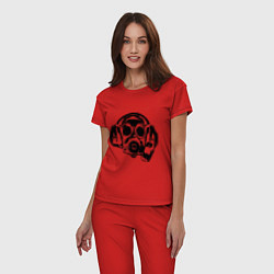 Пижама хлопковая женская Toxic DJ цвета красный — фото 2