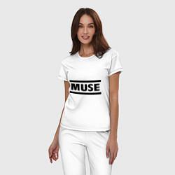 Пижама хлопковая женская Muse цвета белый — фото 2