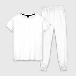 Пижама хлопковая женская Lil Wayne цвета белый — фото 1