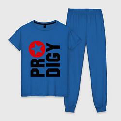 Пижама хлопковая женская Prodigy Star цвета синий — фото 1