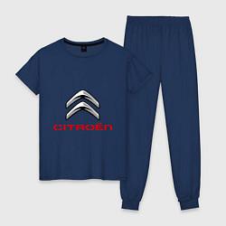 Пижама хлопковая женская Citroen цвета тёмно-синий — фото 1