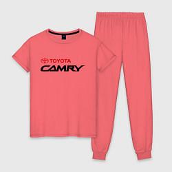 Пижама хлопковая женская Toyota Camry цвета коралловый — фото 1