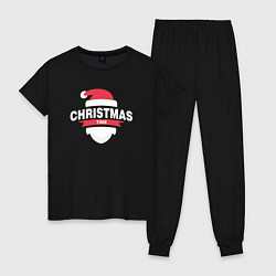 Пижама хлопковая женская Christmas Time цвета черный — фото 1