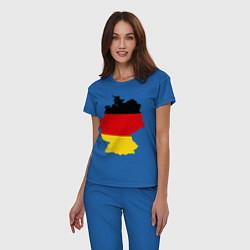 Пижама хлопковая женская Германия (Germany) цвета синий — фото 2