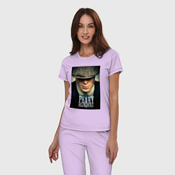 Пижама хлопковая женская Peaky Blinders цвета лаванда — фото 2