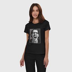 Пижама хлопковая женская Bennington Mono цвета черный — фото 2