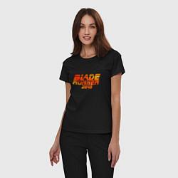 Пижама хлопковая женская Blade Runner 2049 цвета черный — фото 2