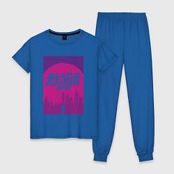 Пижама хлопковая женская Blade Runner 2049: Purple цвета синий — фото 1