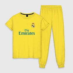Пижама хлопковая женская Real Madrid: Ronaldo 07 цвета желтый — фото 1
