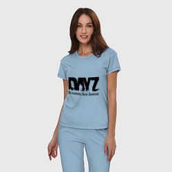 Пижама хлопковая женская DayZ: Slay Survive цвета мягкое небо — фото 2