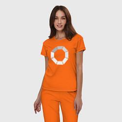Пижама хлопковая женская Loading цвета оранжевый — фото 2