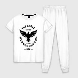 Пижама хлопковая женская The Eagle: Khabib UFC цвета белый — фото 1