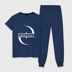 Пижама хлопковая женская Evanescence цвета тёмно-синий — фото 1