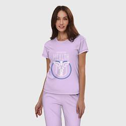 Пижама хлопковая женская Operation Health цвета лаванда — фото 2