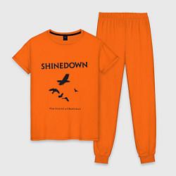 Пижама хлопковая женская Shinedown: Sound of Madness цвета оранжевый — фото 1