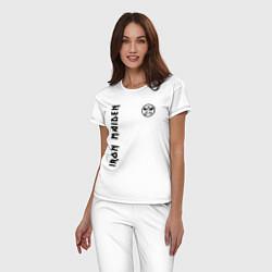 Пижама хлопковая женская Iron Maiden Style цвета белый — фото 2