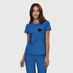 Пижама хлопковая женская Motrhead Peak цвета синий — фото 2