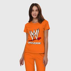 Пижама хлопковая женская WWE universe цвета оранжевый — фото 2