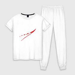 Пижама хлопковая женская NASA: Space Arrow цвета белый — фото 1