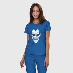 Пижама хлопковая женская DEATH NOTE цвета синий — фото 2