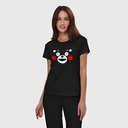 Пижама хлопковая женская Kumamon Face цвета черный — фото 2