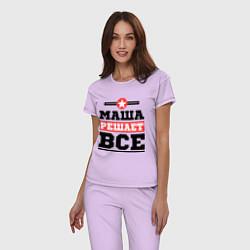 Пижама хлопковая женская Маша решает все цвета лаванда — фото 2