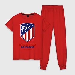 Пижама хлопковая женская Atlecito de Madrid цвета красный — фото 1