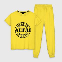 Пижама хлопковая женская Made in Altai цвета желтый — фото 1