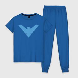 Пижама хлопковая женская Nightwing цвета синий — фото 1