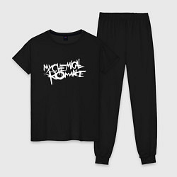 Пижама хлопковая женская My Chemical Romance spider на спине цвета черный — фото 1