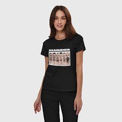 Пижама хлопковая женская Rammstein цвета черный — фото 2