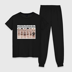Пижама хлопковая женская Rammstein цвета черный — фото 1